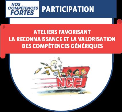 Le badge numérique soulignant la participation à des ateliers NCF.